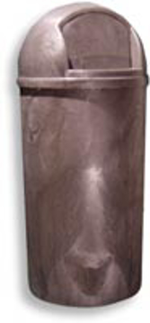 Picture of Bullet Plastic Indoor/Outdoor Receptacle - 21 Gallons - Brown