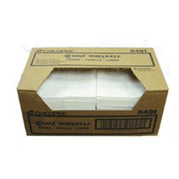 """Picture of Chicopee Worxwell General Purpose Towels - 13"""" x 15"""", White - 100 Count"""
