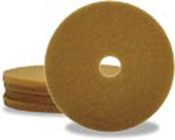 """Picture of 19"""" Tan Elky Pro Buff Polishing Pads"""