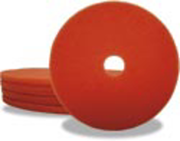 "Picture of 27"" Peach Elky Pro Burnishing Pad - 3-1/4"" Hole"