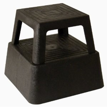 Picture of Continental Black Plastic Step Stool