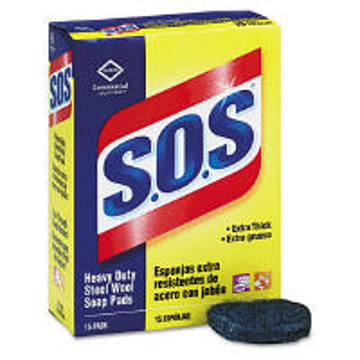 Picture of Clorox Professional S.O.S Heavy-Duty Steel Wool Soap Pad - 15 Count