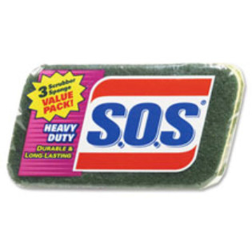 Picture of Clorox Professional S.O.S Heavy-Duty Scrubber Sponge - 3 Pack