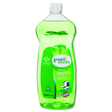 Picture of Clorox Green Works Natural Pot and Pan Dishwashing Liquid - 38oz