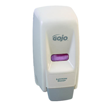 Picture of GOJO 800 Series Push-Style Bag-in-Box Dispenser, 800 mL - White