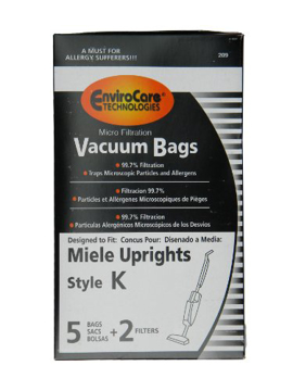 Picture of Miele Vacuum Bags - Style K Micro Filtration (5 Pack + 2 Filters)