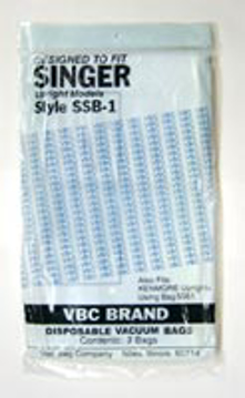 Picture of Singer Paper Bags - Style SSB-1 (3 pack) - After Market