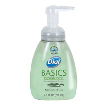 Picture of Dial® Basics HypoAllergenic Foaming Lotion Soap - Aloe with honeysuckle fragrance - 7.5 oz