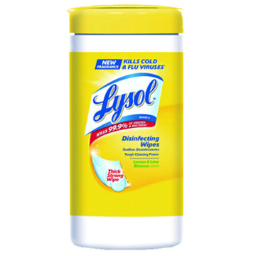 Picture of LYSOL® Brand Disinfecting 4 in 1 Wipes with Micro-Lock™ Fibers, Lemon Scent, 80 Count