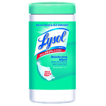 Picture of LYSOL® Brand Disinfecting 4 in 1 Wipes with Micro-Lock™ Fibers, Spring Waterfall™ Scent, 80 Count