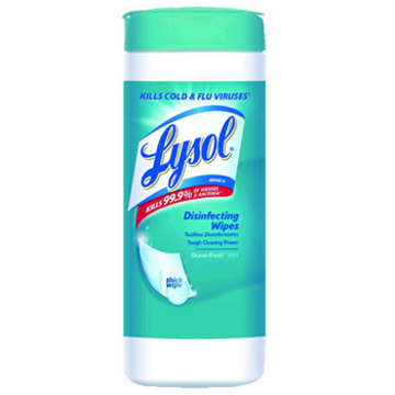 Picture of LYSOL® Brand Disinfecting 4 in 1 Wipes with Micro-Lock™ Fibers, Spring Waterfall™ Scent, 40 Count