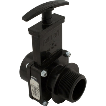 "Picture of Valterra 7108 ABS Gate Valve, Black, 1-1/2"" FPT x MPT"