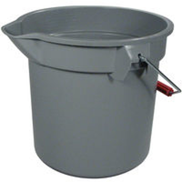 Picture of Rubbermaid Brute Plastic Round Bucket - 14 Quart - Gray