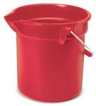 Picture of Rubbermaid Brute Plastic Round Bucket - 14 Quart - Red