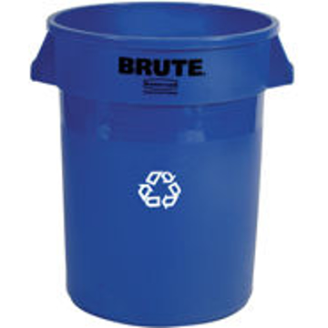 Picture of Rubbermaid BRUTE 32-Gallon Recycling Container - 2632-73 (Blue)