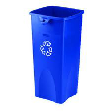 Picture of Rubbermaid Untouchable® 23-Gallon Square Recycling Container