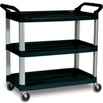 Picture of Rubbermaid 4091 3-Shelf Utility Cart, Open All Sides