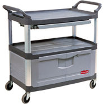 Picture of Rubbermaid 4094 Instrument Cart with Lockable Doors and Sliding Drawers