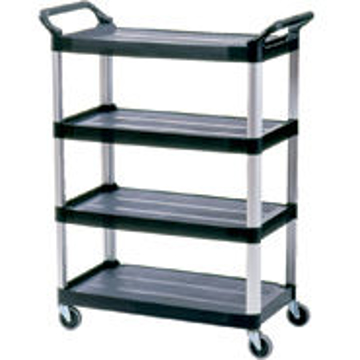 Picture of Rubbermaid 4096 4-Shelf Utility Cart, Open All Sides