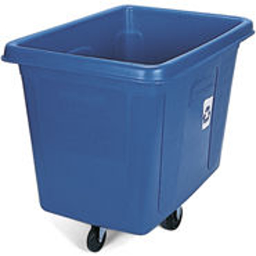 Picture of Rubbermaid Recycling Cube Truck - 16 Cubic Feet, 500 Lb Capacity - Blue