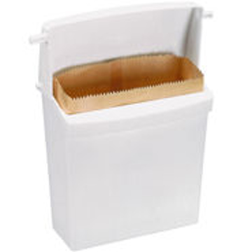 Picture of Rubbermaid Sanitary Napkin Receptacle with Rigid Liner - 6140