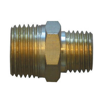 "Picture of PMF Brass Hex Nipple Adapter - 1/4"" X 3/8"" - H23"