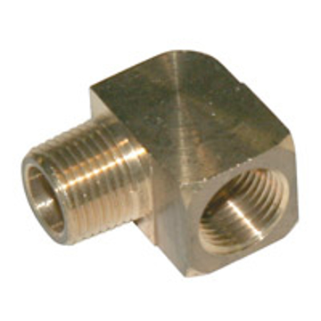 "Picture of PMF Brass Street Elbow - 1/4"", 90 Degree - H27"
