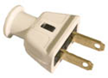 Picture of Cooper Wiring 183W 2 Wire Rubber Plug - White