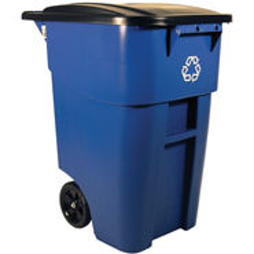 Picture of Rubbermaid BRUTE 50-Gallon Recycling Rollout Container with Lid
