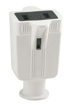 Picture of Cooper Wiring 86W-BOX 2 Wire Rubber Connector - White