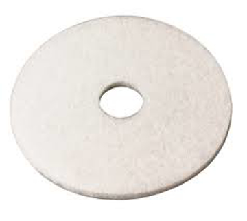 """Picture of 17"""" White 3M Super Polishing Pad 4100"""