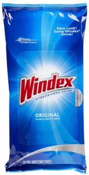 Picture of Windex Glass Cleaner Wipes - Package of 25