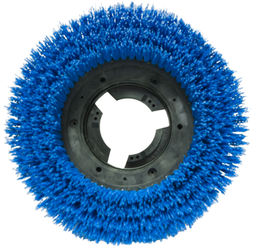"""Picture of Elky Pro 13"""" Stiff Poly Disk Brush w/ Clutch Plate"""