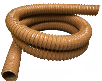 """Picture of 1-1/4"""" x 6' Wire Reinforced Hose - Tan"""