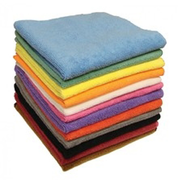 """Picture of Elky Pro Microfiber Cleaning Cloth - 16"""" x 16"""" - Black"""