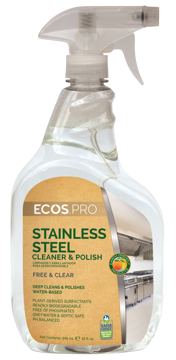 Picture of ECOS PRO Stainless Steel Cleaner & Polish 6 / 32oz Spray Bottles