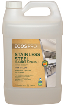 Picture of ECOS PRO™ Stainless Steel Cleaner & Polish 4/1 Gallon Bottles