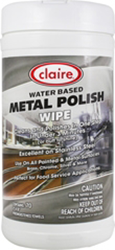 Picture of Claire Water Based Metal Polish Wipe - 70 per Tub  6 tubs per case