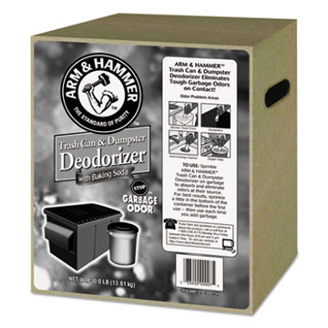 Picture of Arm & Hammer Trash Can & Dumpster Deodorizer, Unscented, Powder - 30 lb