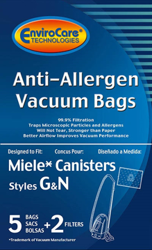 Picture of Miele Vacuum Bags - Style G/N Allergen (5 pack + 2 filters)
