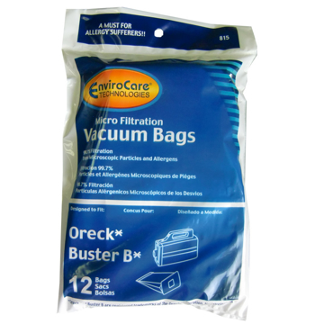 Picture of Envirocare Disposable Bags for Oreck and Buster B models, Microfiber w/closure - 12 Pack