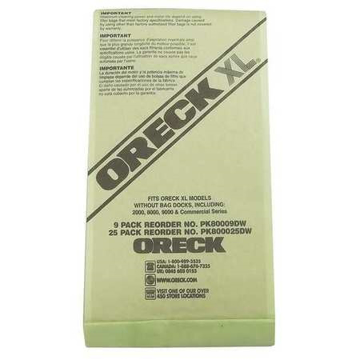 Picture of Oreck  Paper Bags - XL Uprights, Hypoallergenic - Genuine  - PK800025DW