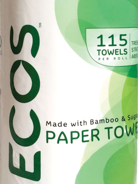 "Picture of ECOS ""Tree-Free"" Paper Towels (48 Roll Case)"