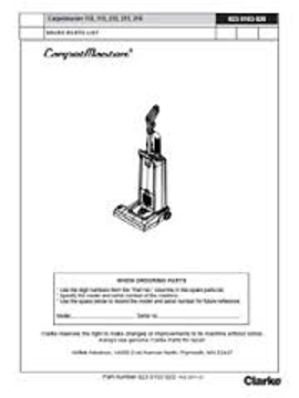 Picture of Clarke Carpetmaster 112, 115, 212, 215, 218 Parts & Accessories