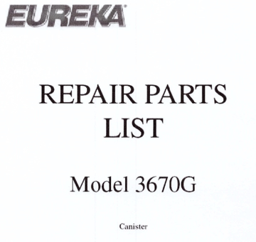 Picture of Eureka 3670G Parts & Accessories