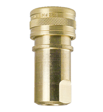 "Picture of 1/4"" Female Brass Quick Disconnect Coupler"