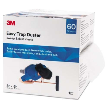"Picture of 3M Easy Trap Duster, 8"" x 6"", White, 60 Sheets/Box, 8 Boxes/Carton - 50051125859214"