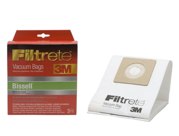 Picture of Bissell Paper Bags - Styles 1, 2, 3, 4, 5, 6 Uprights - Filtrete by 3M (3 Pack) - Micro Allergen  - 66707A-6