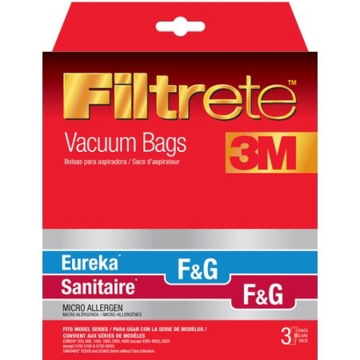 Picture of Filtrete™ 3M Eureka F&G / Sanitaire F&G / Kenmore 5002 & 5062 / Singer SUB-1 - Micro Allergen, (3 Pack) - 67715