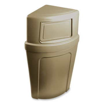 Picture of Continental Corner'Round 21 Gallon Receptacle - Beige